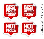 best hot offers speech bubbles... | Shutterstock .eps vector #117719749
