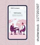 mobile app screen businessmen...   Shutterstock .eps vector #1177201507