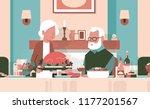 happy thanksgiving elderly... | Shutterstock .eps vector #1177201567