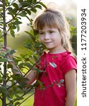 cute pretty child girl with... | Shutterstock . vector #1177203934