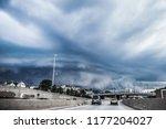 shelf storm cloud over the...   Shutterstock . vector #1177204027