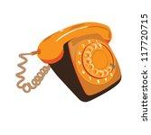 orange retro phone | Shutterstock .eps vector #117720715