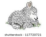 baby lamb vector | Shutterstock .eps vector #117720721