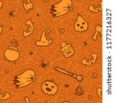 pattern on a halloween holiday. ...   Shutterstock .eps vector #1177216327