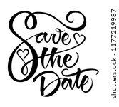 save the date modern... | Shutterstock .eps vector #1177219987