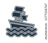 sailboat icon vector isolated... | Shutterstock .eps vector #1177226767