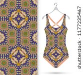 vector fashion illustration ... | Shutterstock .eps vector #1177235467