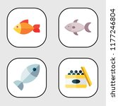 seafood icon set. fish seafood... | Shutterstock .eps vector #1177246804