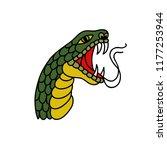 snake illustration traditional... | Shutterstock .eps vector #1177253944