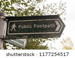 a public footpath sign in... | Shutterstock . vector #1177254517