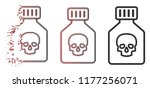 poison phial icon in sparkle ...   Shutterstock .eps vector #1177256071