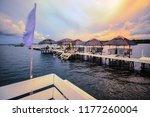 floating resort off the bay in... | Shutterstock . vector #1177260004