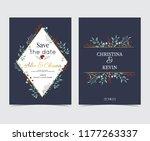 geometry gold wedding...   Shutterstock .eps vector #1177263337