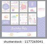 violet pastel greeting card... | Shutterstock .eps vector #1177265041