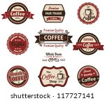 set of vintage retro coffee... | Shutterstock .eps vector #117727141
