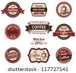 set of vintage retro coffee... | Shutterstock .eps vector #117727141