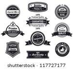set of vintage retro premium... | Shutterstock .eps vector #117727177