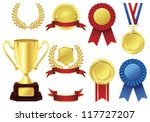 awards icon set | Shutterstock .eps vector #117727207