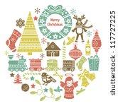 Christmas Icons Collection.