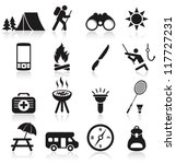 camping icons | Shutterstock .eps vector #117727231