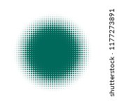 green halftone circles  dots... | Shutterstock .eps vector #1177273891