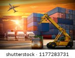 logistics and transportation of ... | Shutterstock . vector #1177283731