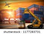 logistics and transportation of ... | Shutterstock . vector #1177283731