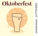 oktoberfest label with beer... | Shutterstock .eps vector #1177293001