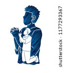 prayer  christian praying ... | Shutterstock .eps vector #1177293367