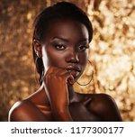 stunning portrait of an african ... | Shutterstock . vector #1177300177