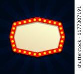 retro light vintage signboard ... | Shutterstock .eps vector #1177307191