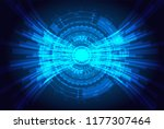 futuristic technology concept.  ... | Shutterstock .eps vector #1177307464