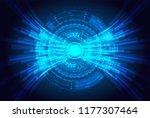futuristic technology concept.  ... | Shutterstock .eps vector #1177307464