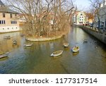 homes along the gera river in... | Shutterstock . vector #1177317514