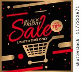 black friday sale design... | Shutterstock .eps vector #1177322671