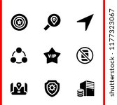 information icon set. shield... | Shutterstock .eps vector #1177323067