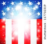 American flag patriotic background with stars and stripes and space for text in the center - stock photo