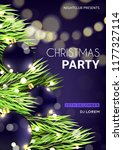 christmas party poster template.... | Shutterstock .eps vector #1177327114