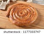 golden brown greek cheese... | Shutterstock . vector #1177333747