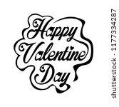 happy valentines day hand... | Shutterstock .eps vector #1177334287