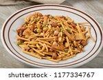 a bowl of healthy gourmet... | Shutterstock . vector #1177334767