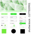 light green vector web ui kit...