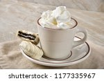 a cup of steaming hot chocolate ... | Shutterstock . vector #1177335967