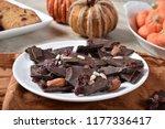 gourmet dark chocolate bark... | Shutterstock . vector #1177336417