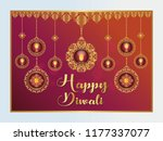 beautiful diwali wishes...   Shutterstock .eps vector #1177337077