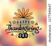 thanksgiving day. logo  text... | Shutterstock .eps vector #1177340647
