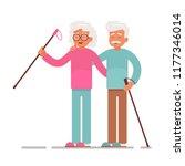 old people sport activities... | Shutterstock .eps vector #1177346014