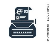 typewriter icon vector isolated ... | Shutterstock .eps vector #1177348417