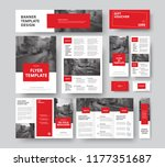 corporate style with square red ... | Shutterstock .eps vector #1177351687
