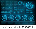futuristic blue virtual graphic ... | Shutterstock .eps vector #1177354921